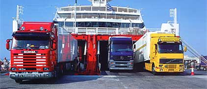 TRUCK BY FERRY TO GREECE